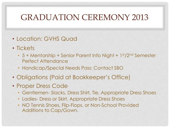 Graduation ceremony 2013
