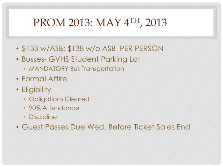 Prom 2013: may 4