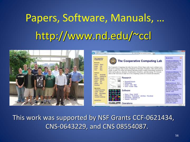 Papers, Software, Manuals, …