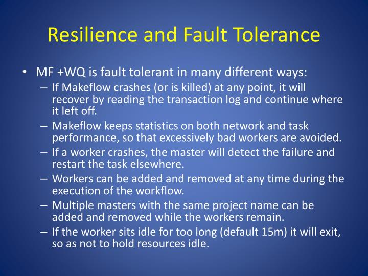 Resilience and Fault Tolerance