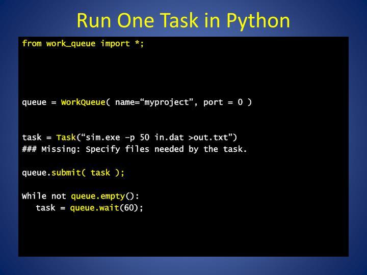 Run One Task in Python