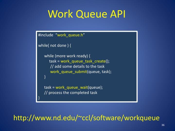 Work Queue API