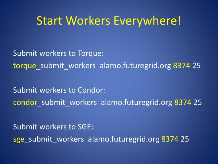 Start Workers Everywhere!