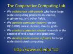the cooperative computing lab1