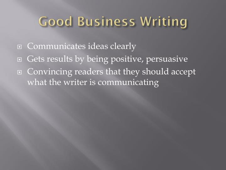 Good Business Writing