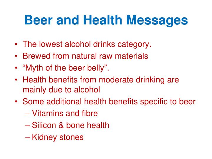 Beer and Health Messages