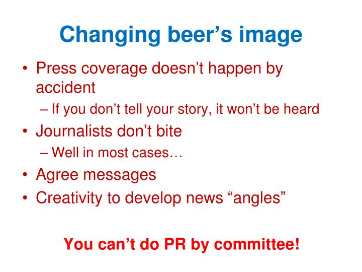 Changing beer's image