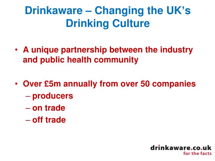 Drinkaware – Changing the UK's Drinking Culture