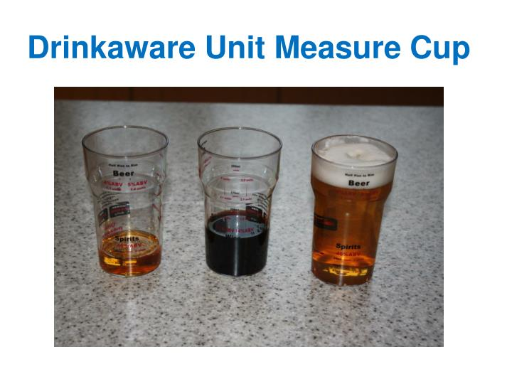 Drinkaware Unit Measure Cup
