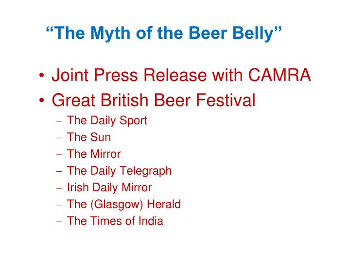 """The Myth of the Beer Belly"""