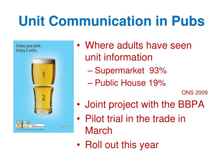Unit Communication in Pubs