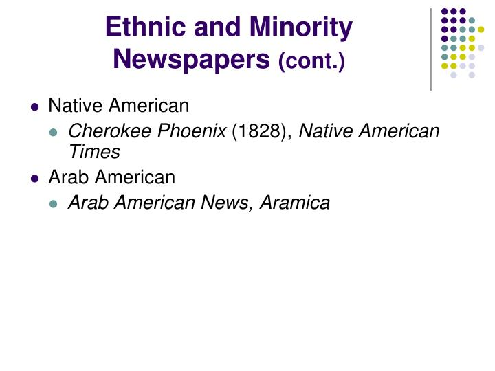 Ethnic and Minority Newspapers
