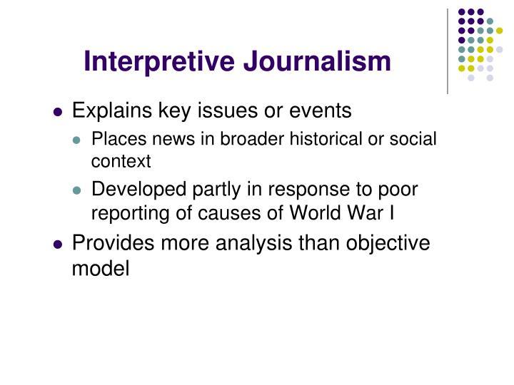 Interpretive Journalism