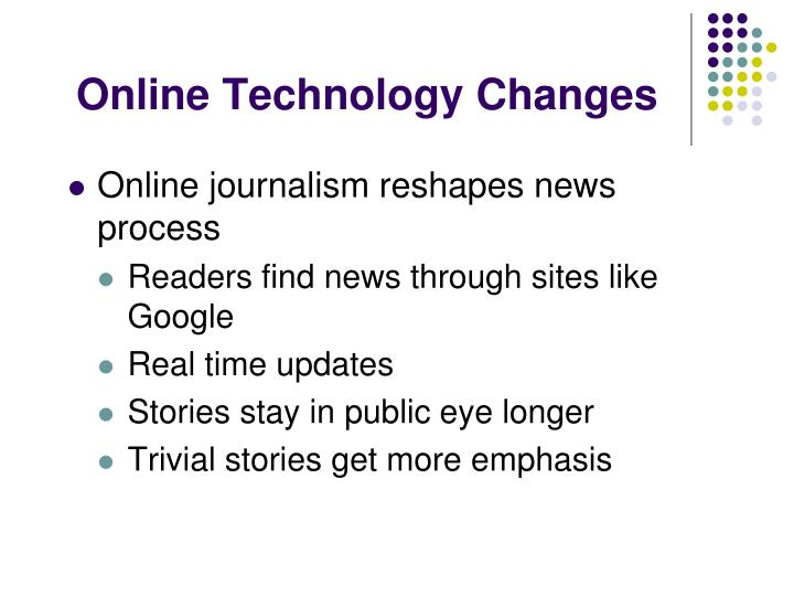 Online Technology Changes