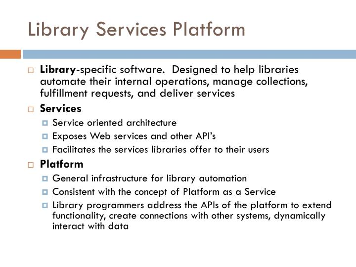 Library Services Platform