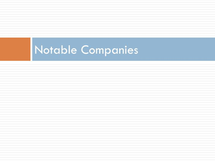 Notable Companies