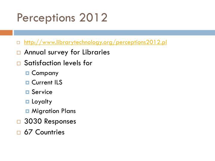 Perceptions 2012