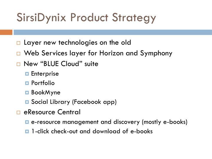 SirsiDynix Product Strategy