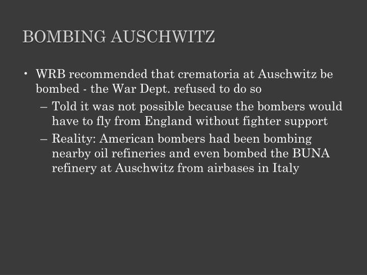 Bombing Auschwitz