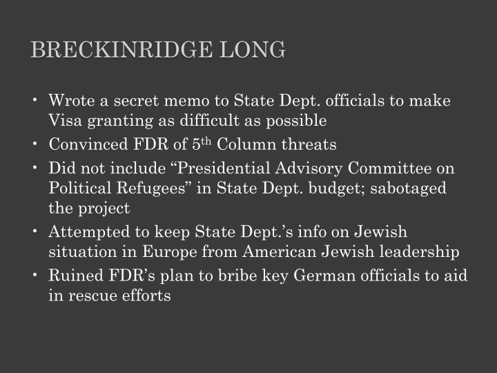 Breckinridge Long