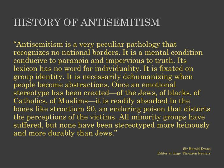 History of antisemitism