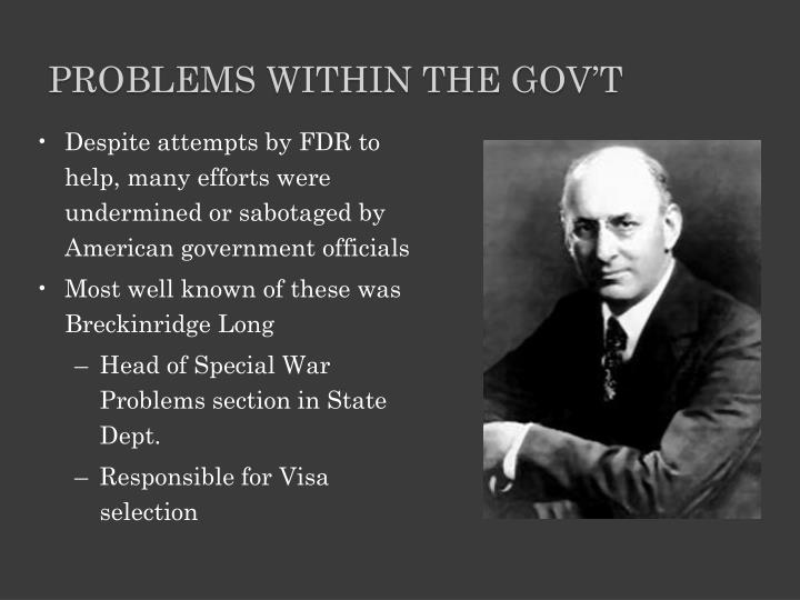 Problems Within the Gov't