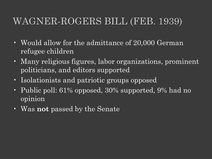 Wagner-Rogers Bill (Feb. 1939)