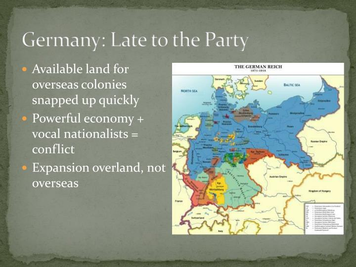 Germany: Late to the Party