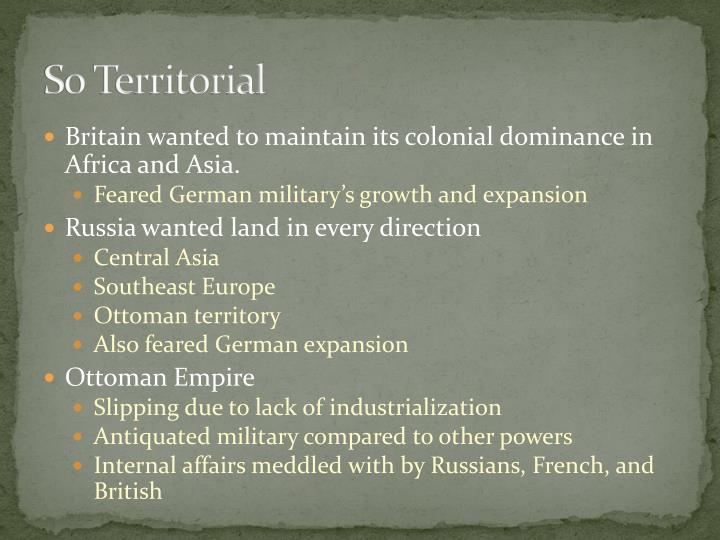 So Territorial