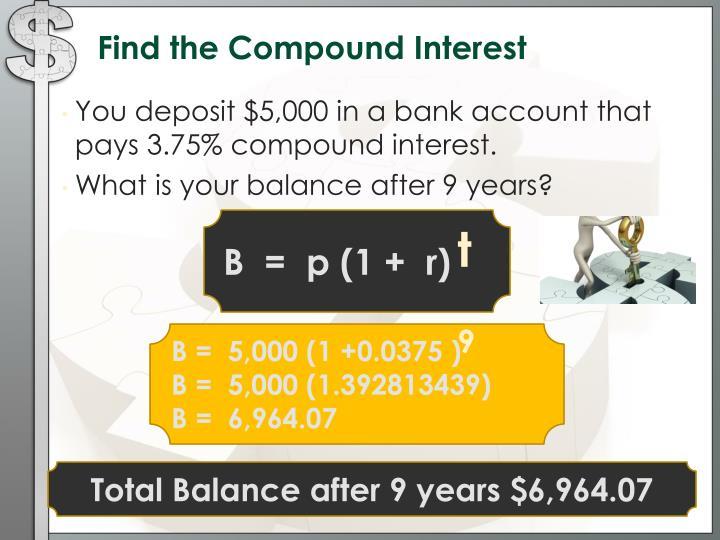 compund interest how to find p