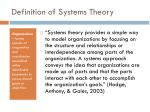 definition of systems theory