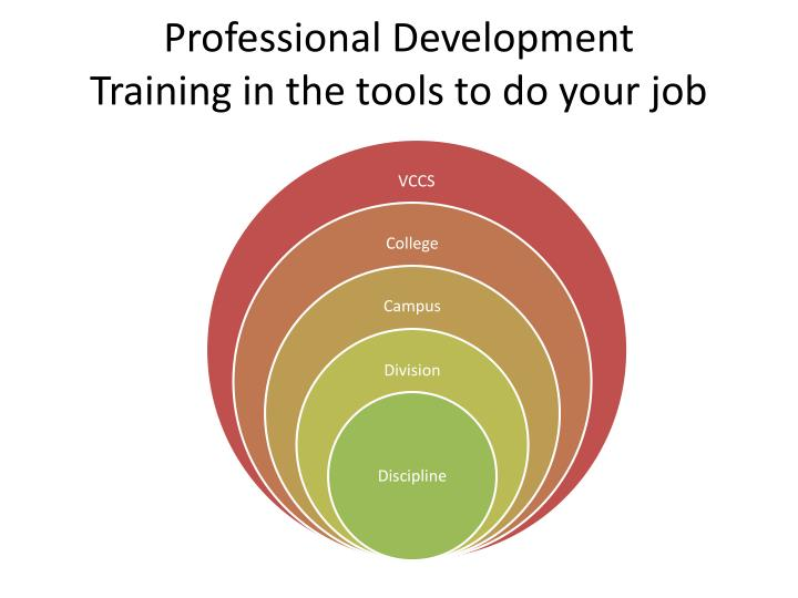 Professional development training in the tools to do your job