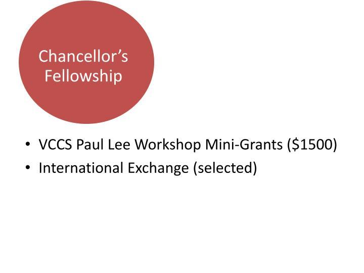 Chancellor's Fellowship
