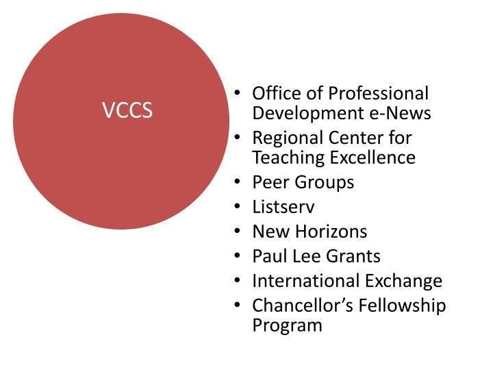 Office of Professional Development e-News