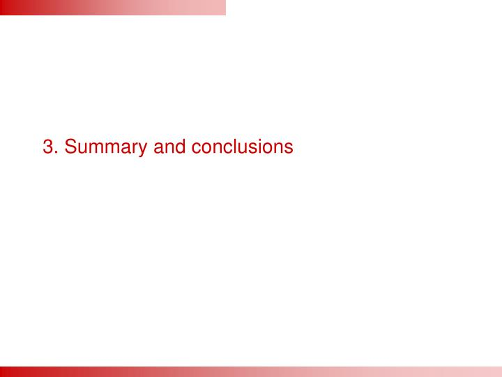 3. Summary and conclusions