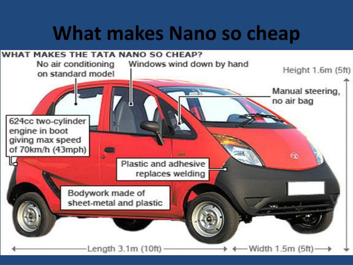 What makes Nano so cheap