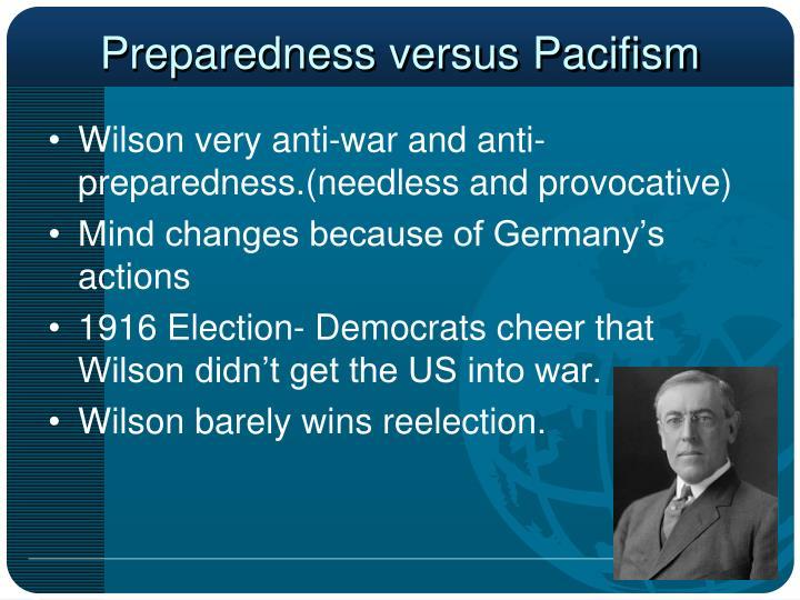 Preparedness versus Pacifism