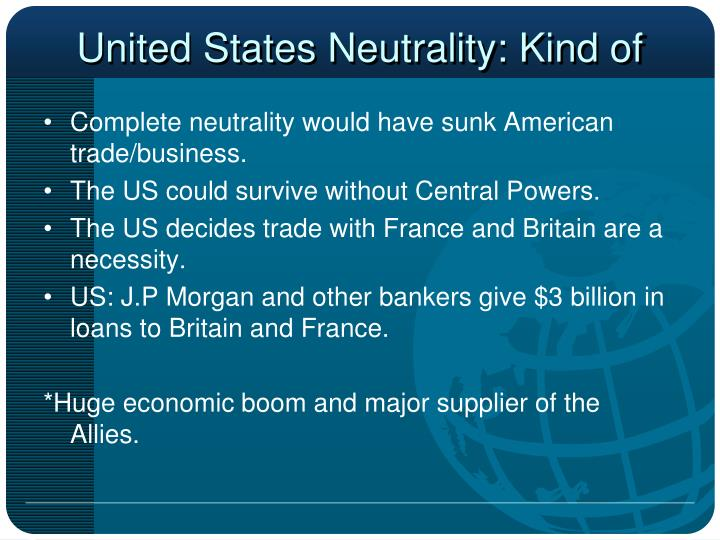 United States Neutrality: Kind of