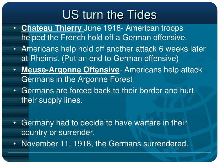 US turn the Tides