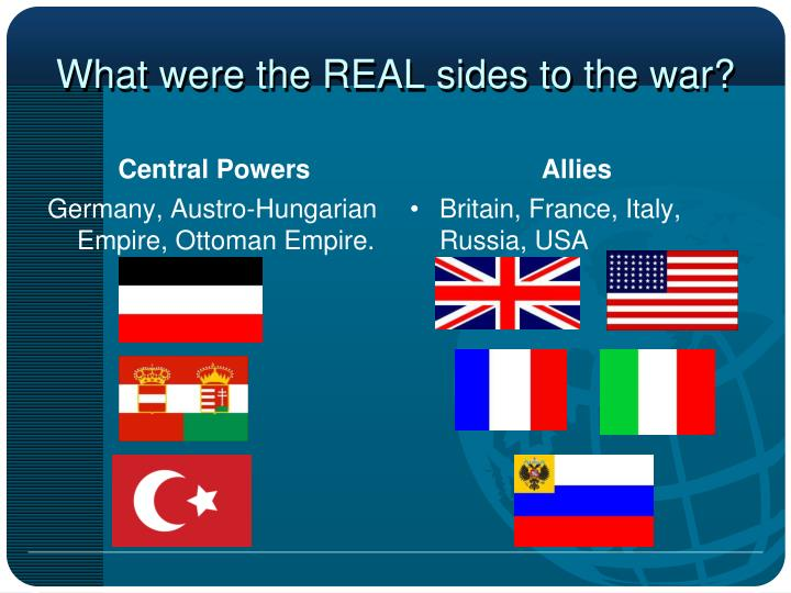 What were the REAL sides to the war?