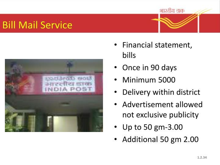 Bill Mail Service