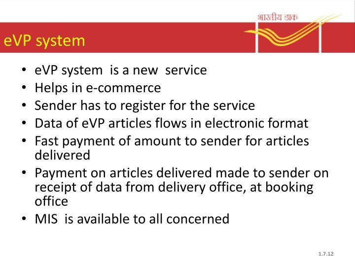 eVP system