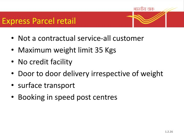 Express Parcel retail