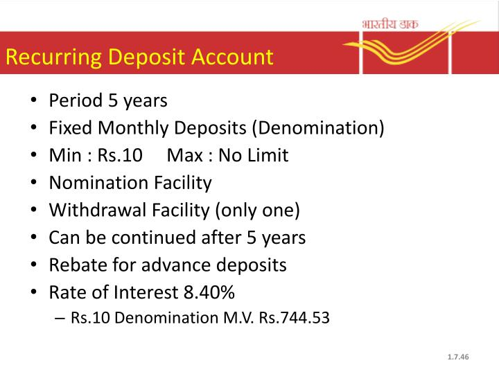 Recurring Deposit Account