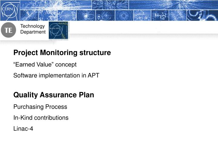 Project Monitoring structure