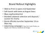 brand rollout highlights