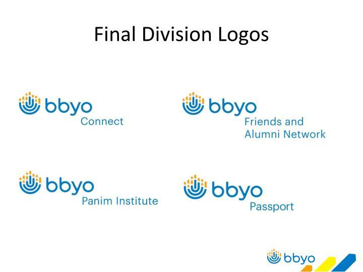Final Division Logos