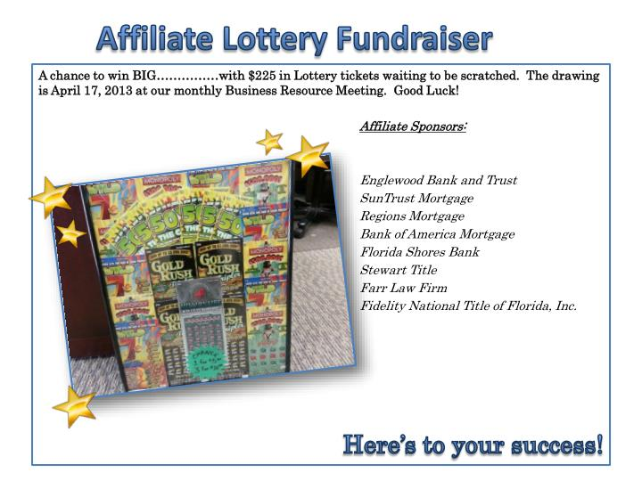 Affiliate Lottery Fundraiser