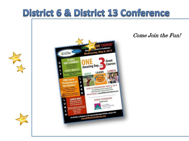 District 6 & District 13 Conference