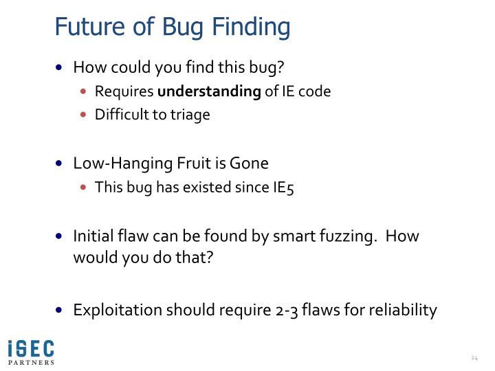 Future of Bug Finding